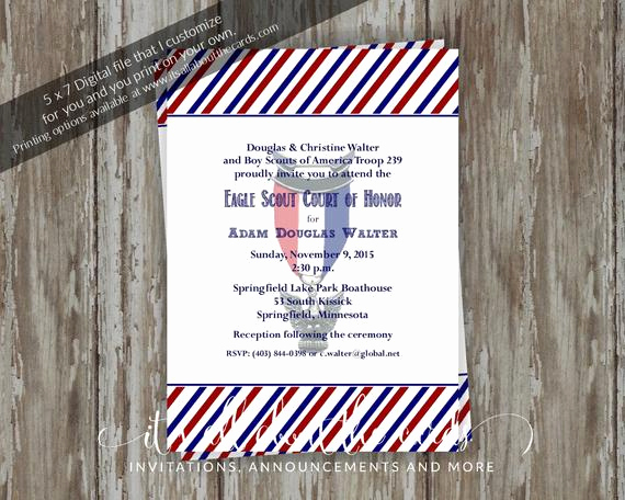 Eagle Scout Invitation Wording Inspirational Eagle Scout Court Of Honor Invitations Patriotic