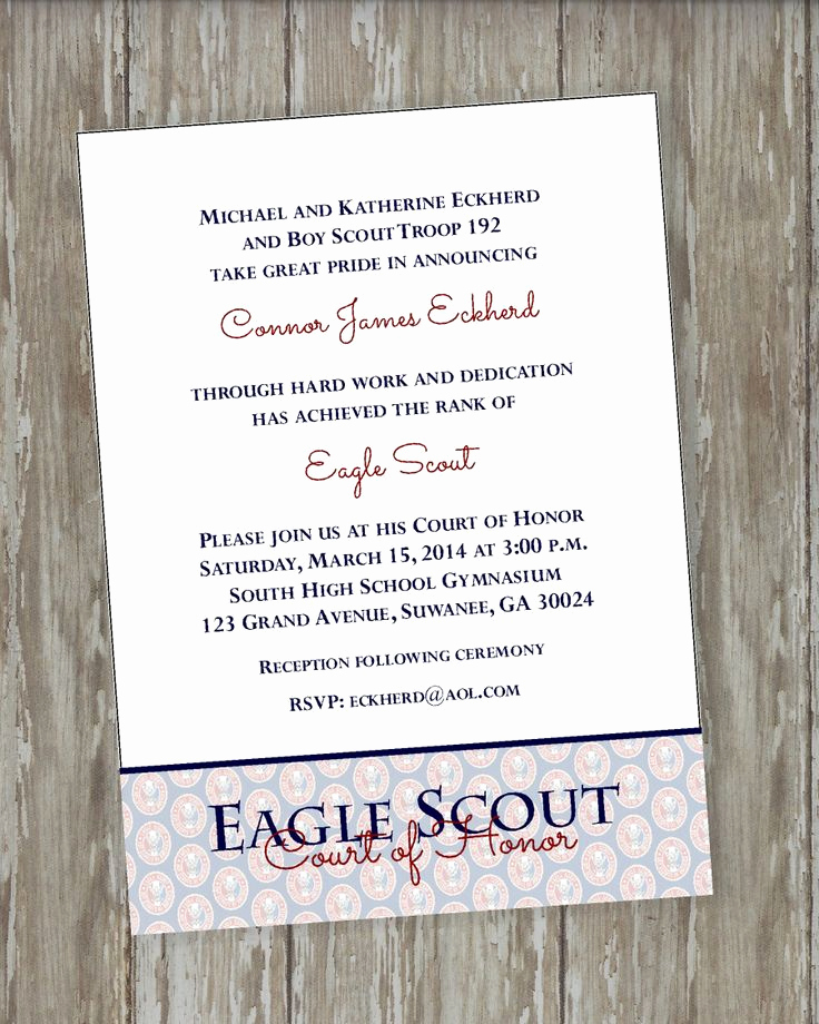 Eagle Scout Invitation Wording Lovely 9 Best Eagle Coh Invitation Wording Images On Pinterest