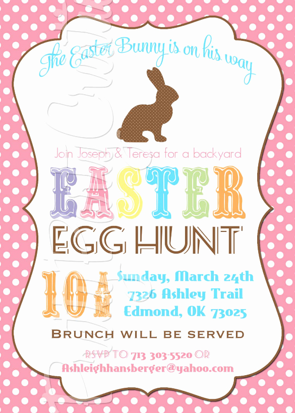 Easter Egg Hunt Invitation Beautiful 32 Easter Invitation Templates – Free Sample Example