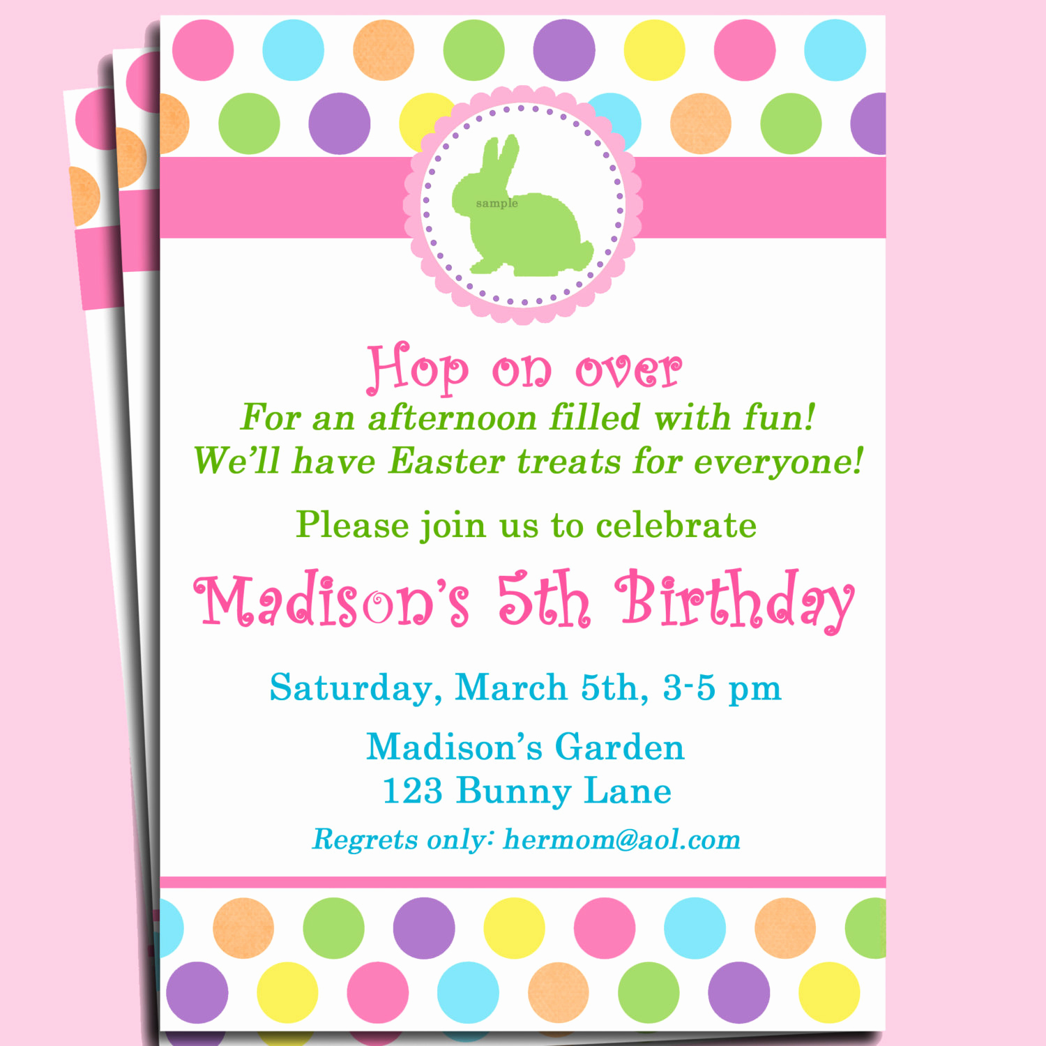 Easter Egg Hunt Invitation Beautiful Easter Bunny Invitation Printable or Printed with Free