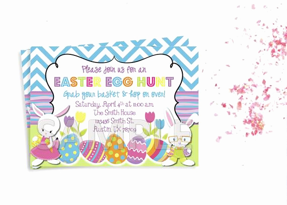 Easter Egg Hunt Invitation Beautiful Easter Egg Hunt Invitation Easter Party Invitation Easter