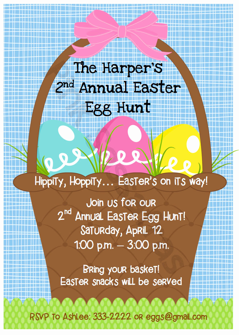 Easter Egg Hunt Invitation Beautiful Easter Egg Hunt Invitation
