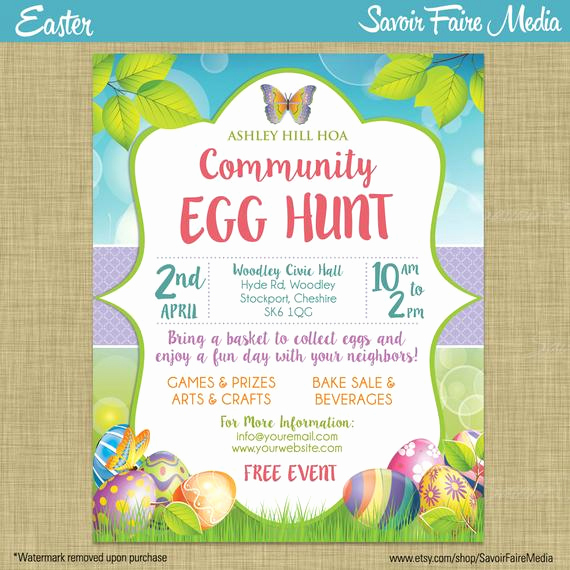 Easter Egg Hunt Invitation Best Of Easter Egg Hunt Flyer Invitation Poster Template Church