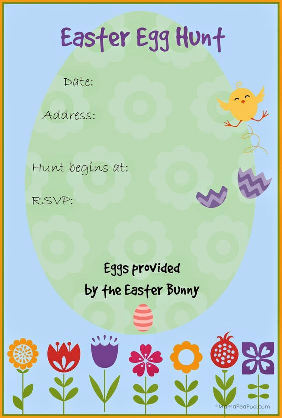 Easter Egg Hunt Invitation Fresh Free Printable Easter Egg Hunt Invitation