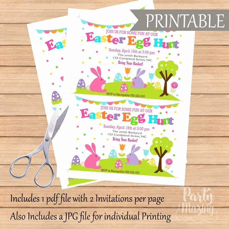 Easter Egg Hunt Invitation Inspirational Printable Easter Egg Hunt Easter Egg Hunt Printable