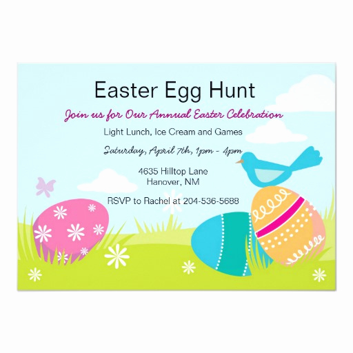 Easter Egg Hunt Invitation Lovely Children Easter Egg Hunt Invitations