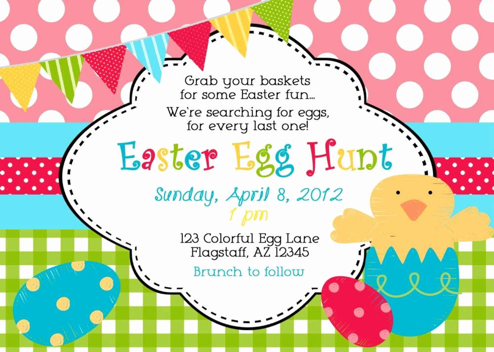 Easter Egg Hunt Invitation Lovely Easter Egg Hunt Invitation Wording