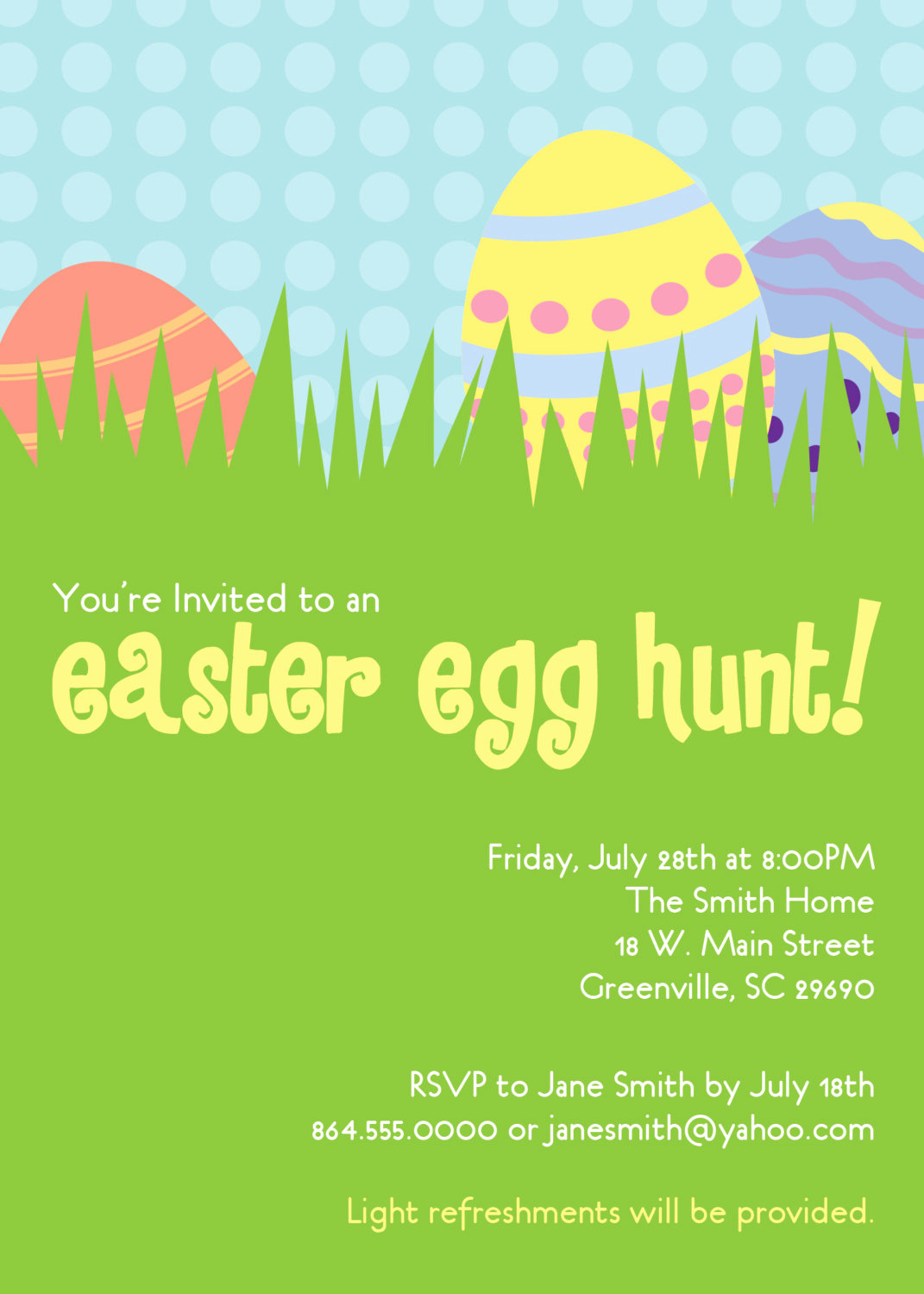 Easter Egg Hunt Invitation Lovely Easter Egg Hunt Invitations Party Dinner Birthday Get