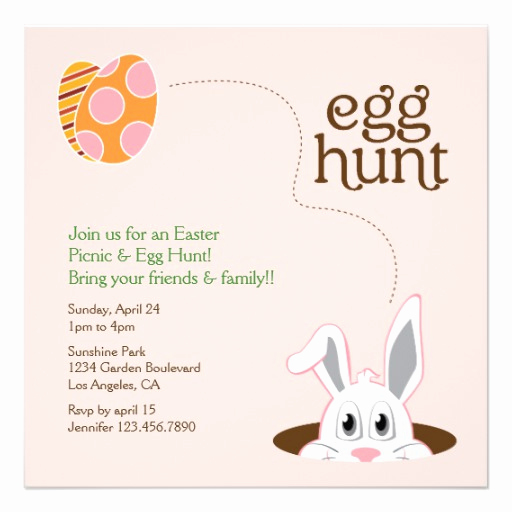 "Easter Egg Hunt Invitation Lovely Easter Egg Hunt Picnic Invitation 5 25"" Square Invitation"