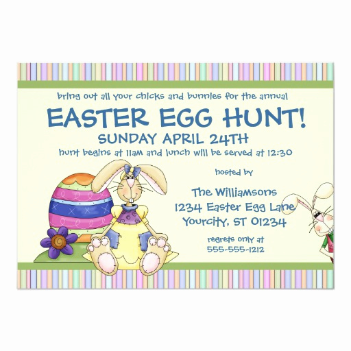 Easter Egg Hunt Invitation Lovely Floppy Bunny Easter Egg Hunt Invitation