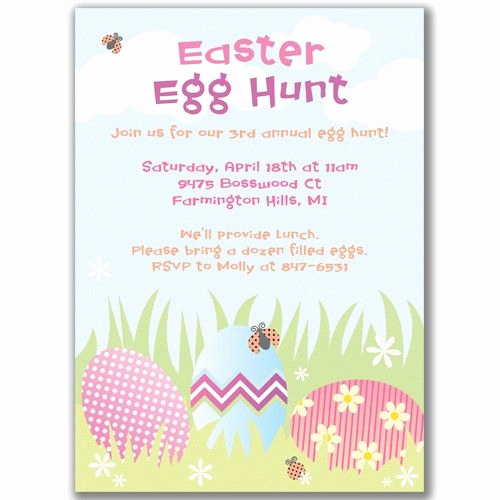 Easter Egg Hunt Invitation Lovely for Easter Egg Hunt Party Invitations
