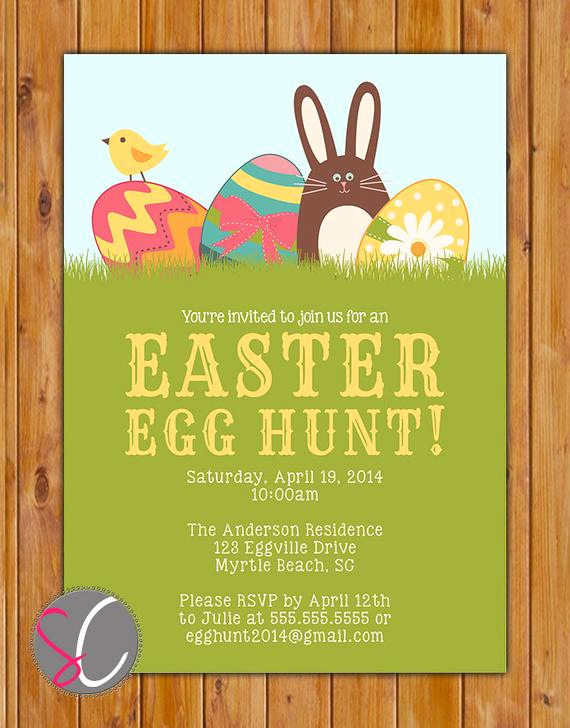 Easter Egg Hunt Invitation Lovely Items Similar to Easter Egg Hunt Invite Bunny Rabbit