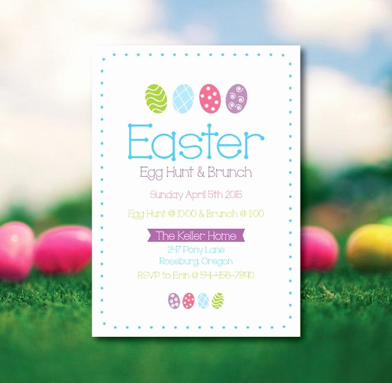 Easter Egg Hunt Invitation Luxury Easter Egg Hunt Invitation Easter Brunch Invitation Easter