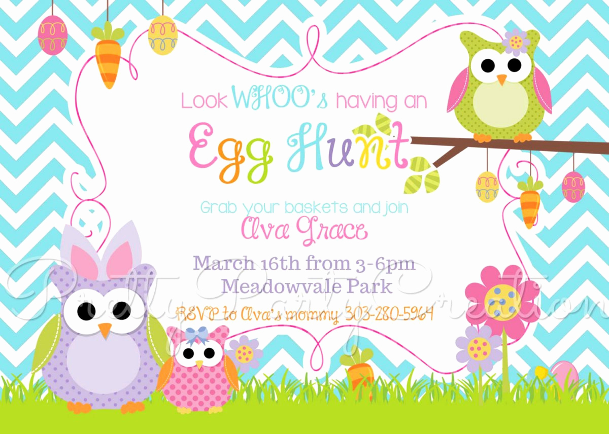 Easter Egg Hunt Invitation Luxury Easter Egg Hunt Party Invitations