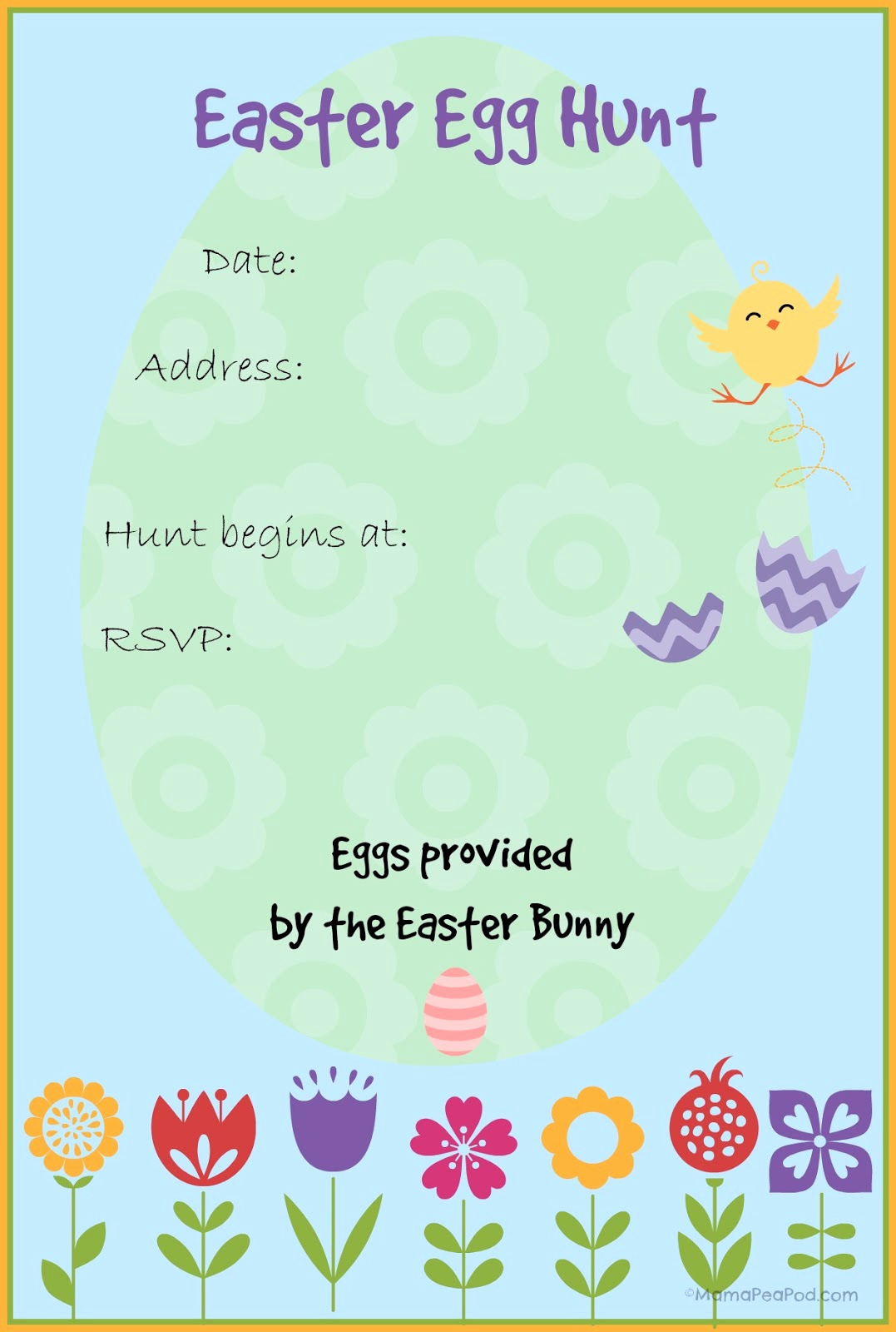Easter Egg Hunt Invitation Luxury Mama Pea Pod