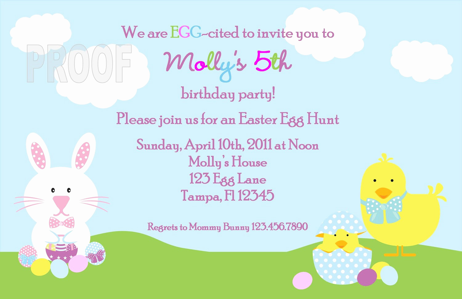 Easter Egg Hunt Invitation New Easter Egg Hunt or Birthday Party Custom Invitation