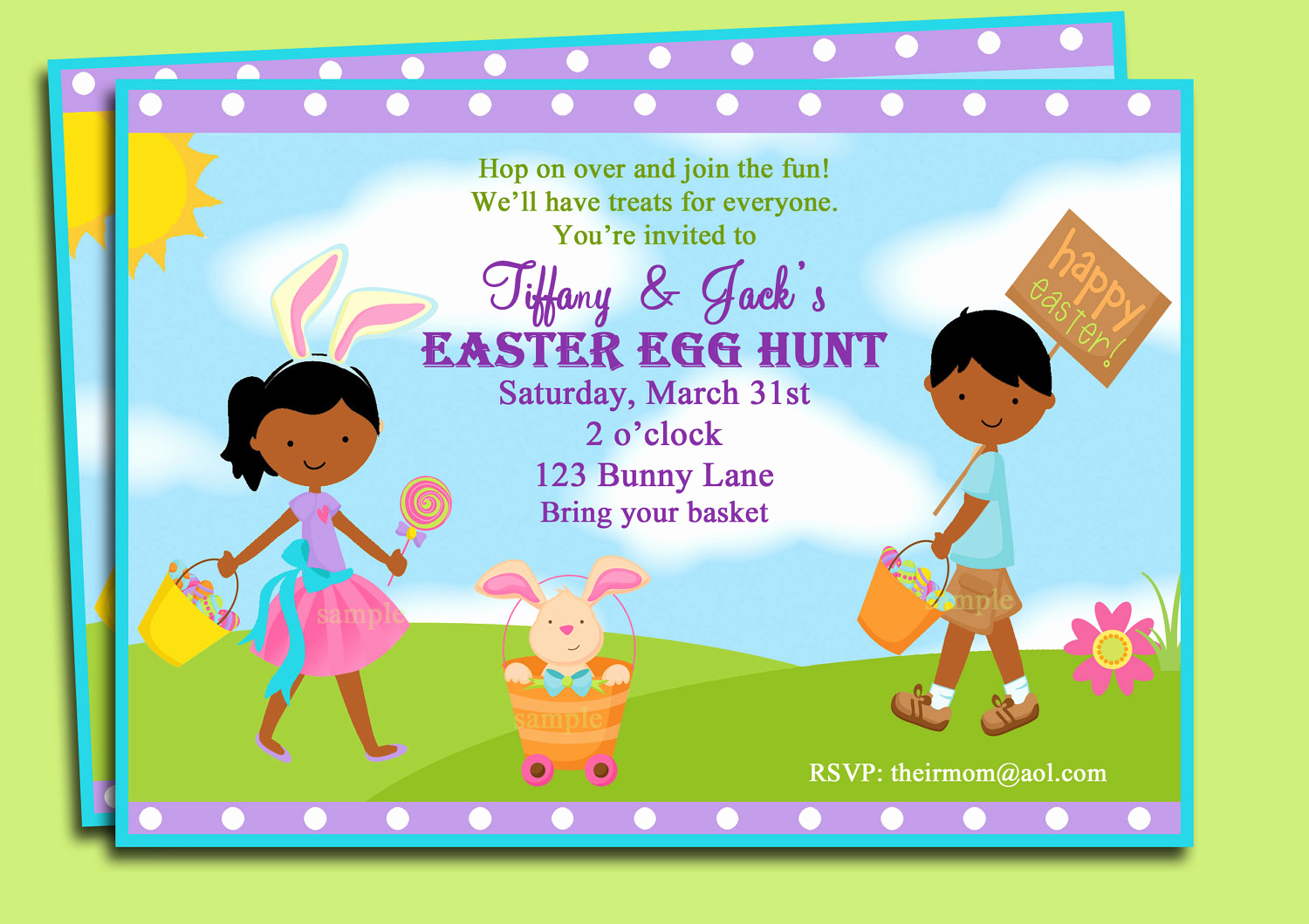 Easter Egg Hunt Invitation Unique Easter Egg Hunt Party Invitation Printable or Printed with