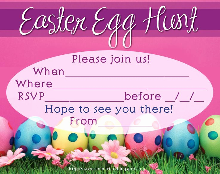 Easter Invitation Template Free Awesome 31 Best Easter Printables Colouring Pages and