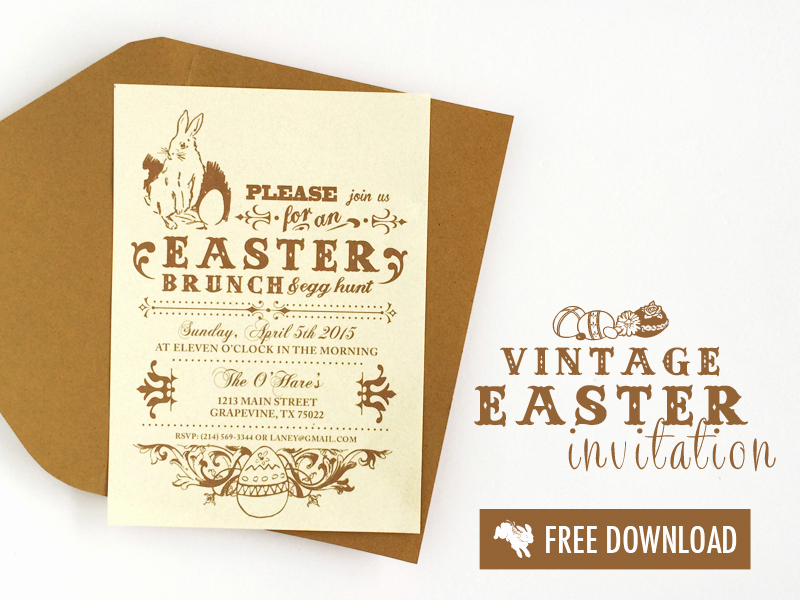 Easter Invitation Template Free Beautiful Free Vintage Easter Printable Invitation