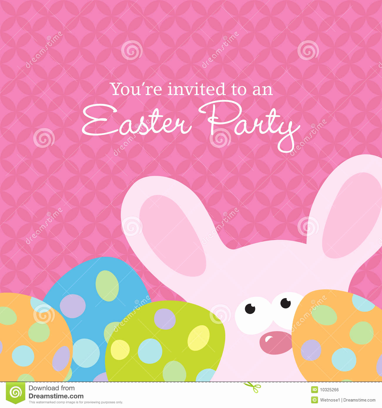 royalty free stock image easter invite template image