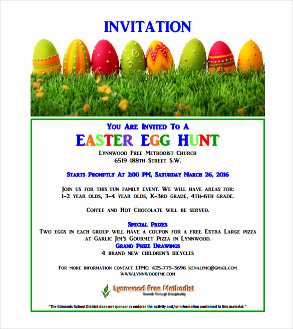Easter Invitation Template Free Best Of Sample Easter Invitation Templates – 12 Sample Examples