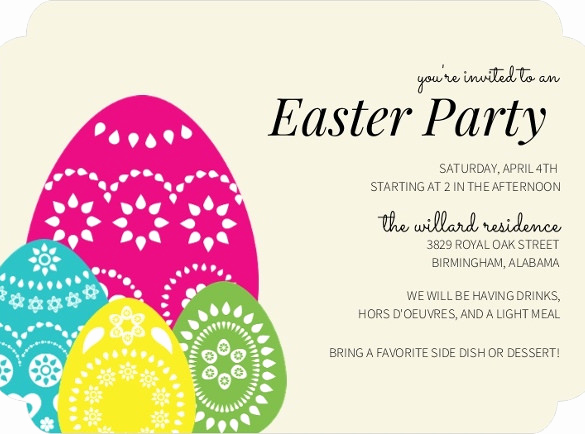 Easter Invitation Template Free Elegant 32 Easter Invitation Templates – Free Sample Example