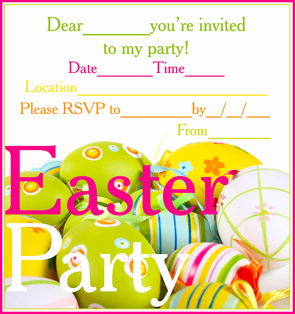 Easter Invitation Template Free Elegant Easter Colouring Free Printable Easter Party Invitations