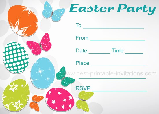 Easter Invitation Template Free Elegant Free Printable Easter Party Invitations