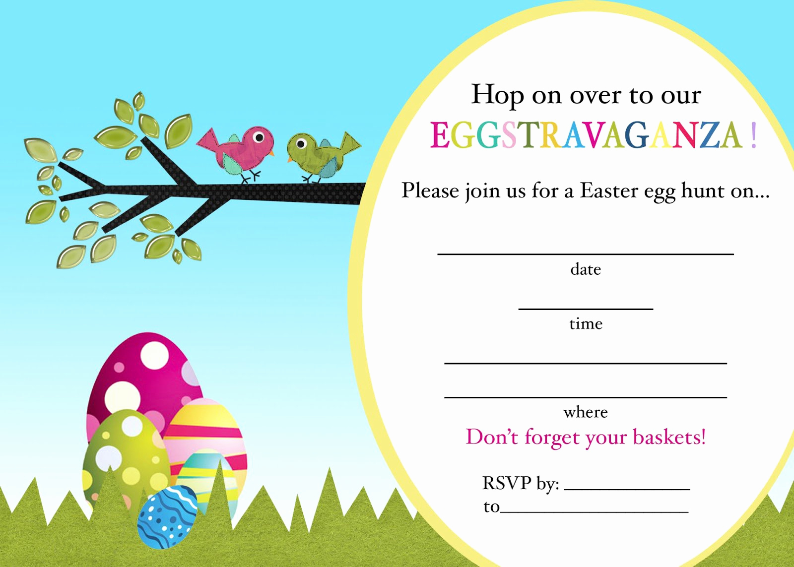 Easter Invitation Template Free Luxury Easter Egg Hunt Invitations Printable