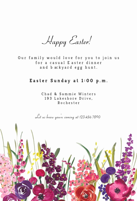 Easter Invitation Template Free Luxury Easter Invitation Templates Free