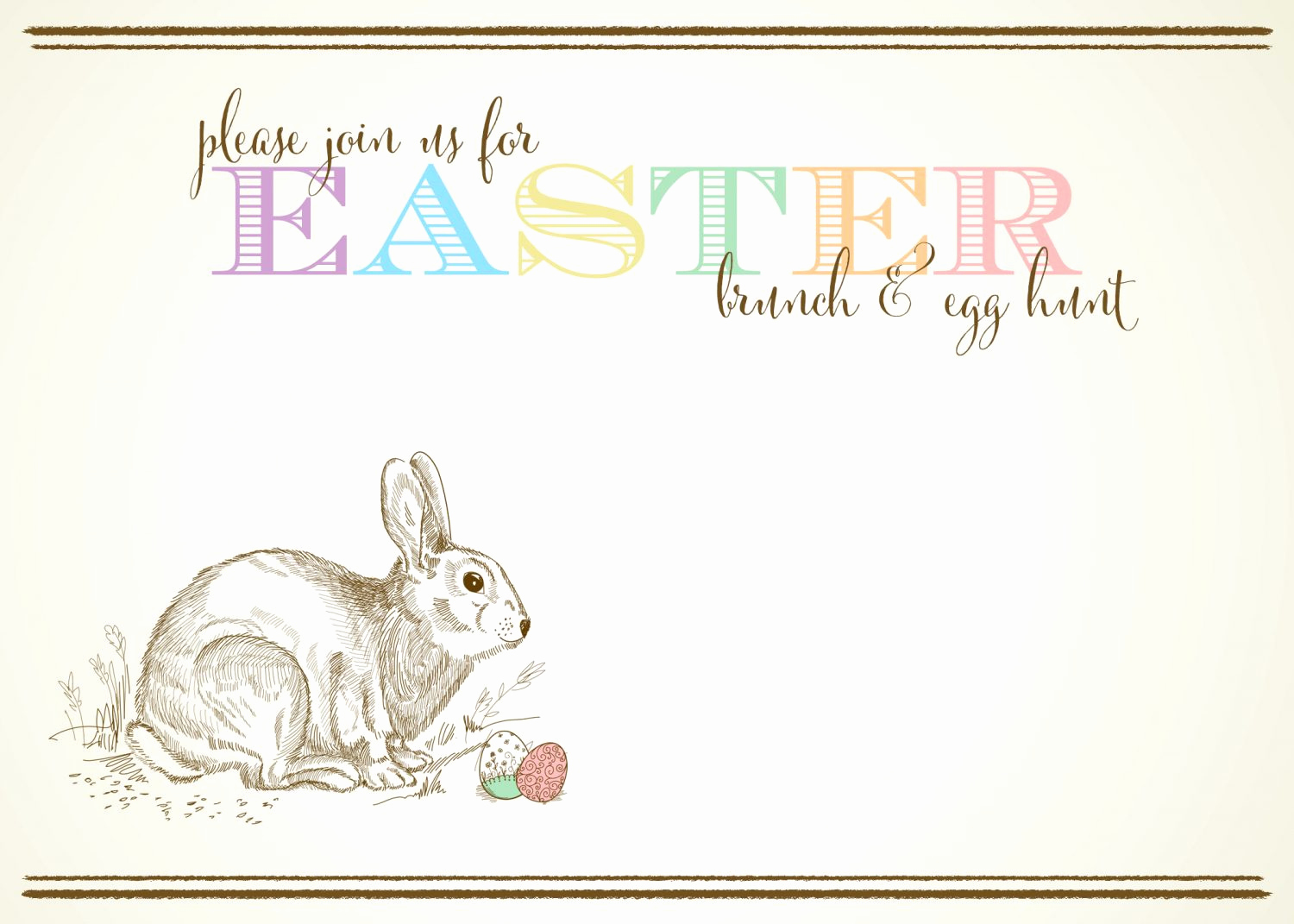 Easter Invitation Template Free New Free Customizable Easter Invitations From