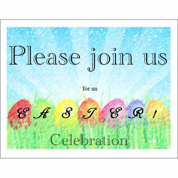 Easter Invitation Template Free Unique Free Printable Invitations 5 Templates for Microsoft