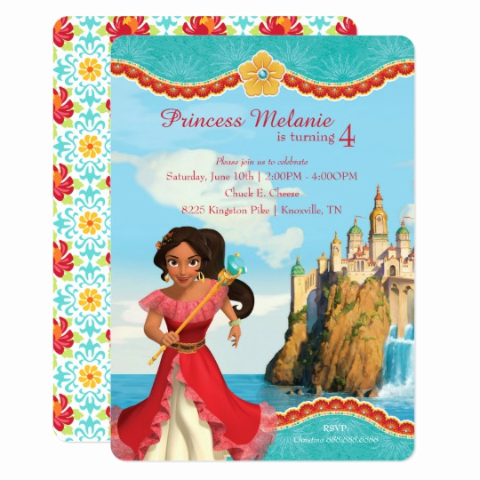 Elena Of Avalor Invitation Template Best Of Elena Of Avalor Birthday Card