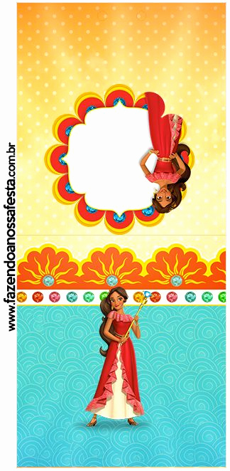 Elena Of Avalor Invitation Template Best Of Rótulo Pirulito Elena De Avalor