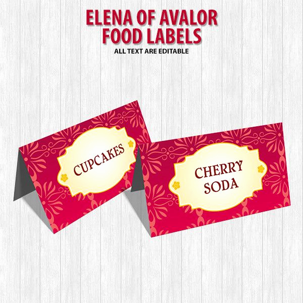 Elena Of Avalor Invitation Template Fresh Elena Of Avalor Food Labels by Digitaldesignchile On Etsy