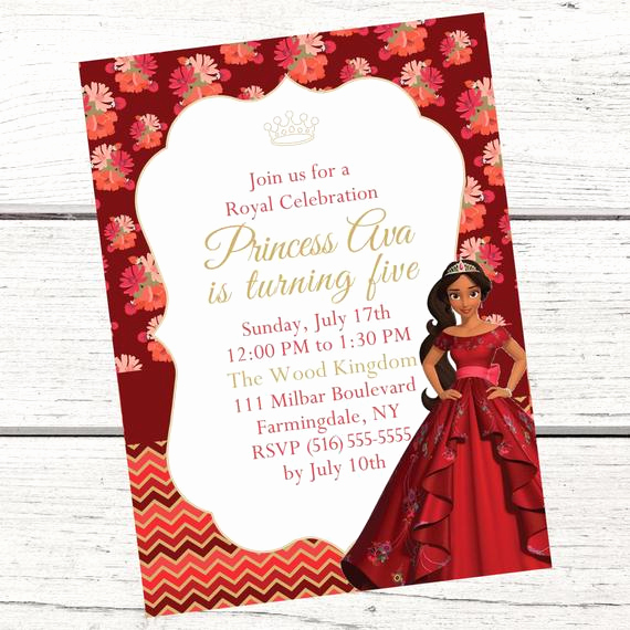 Elena Of Avalor Invitation Template Fresh Elena Of Avalor Invitation Free Thank You Card File Princess