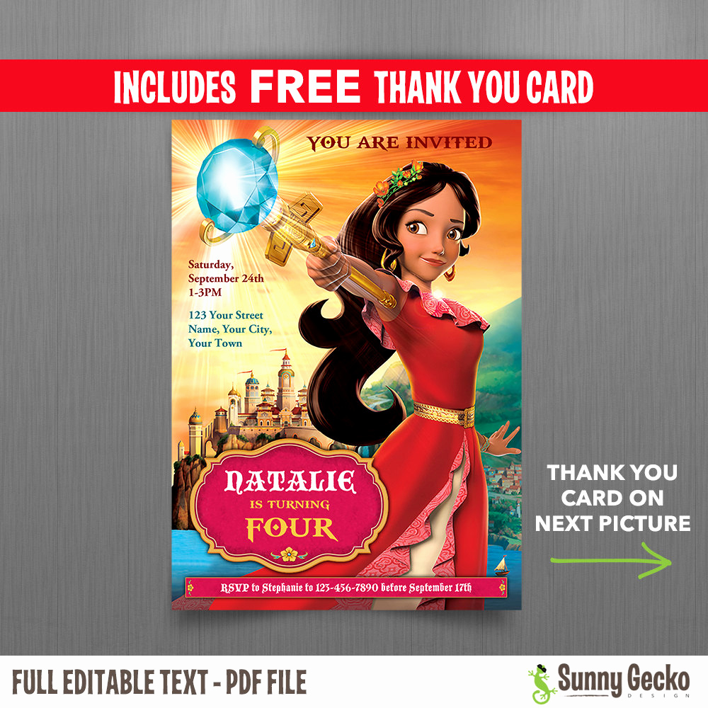 Elena Of Avalor Invitation Template Inspirational Disney Elena Of Avalor 5x7 In Birthday Party Invitation