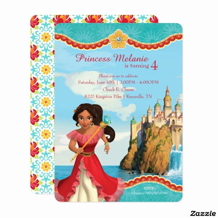 Elena Of Avalor Invitation Template Inspirational Elena Of Avalor Birthday Card