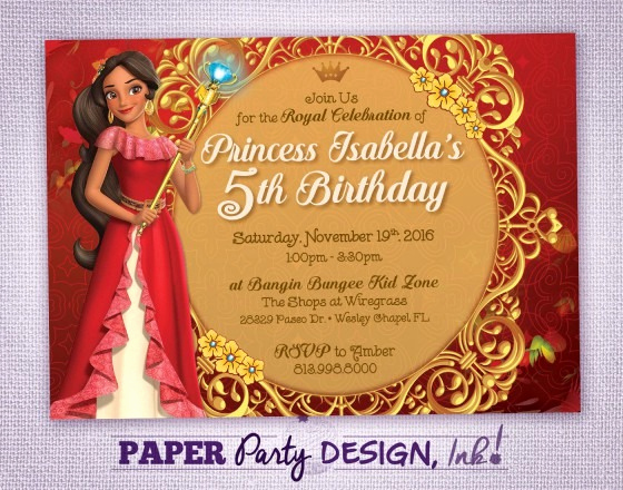 Elena Of Avalor Invitation Template Lovely Elena Avalor Birthday Party Invitation Elena Avalor