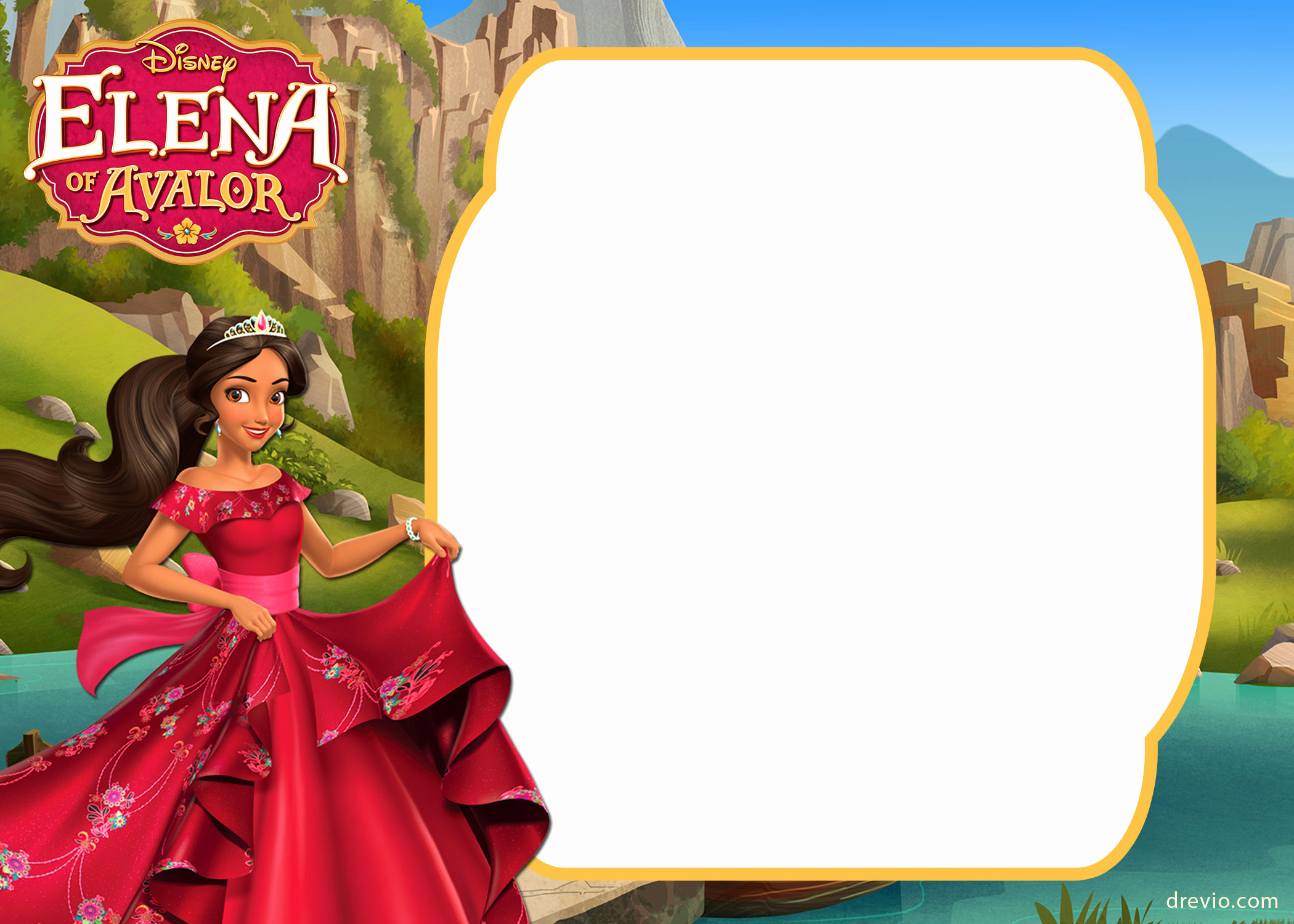 Elena Of Avalor Invitation Template Lovely Free Printable Elena Of Avalor Invitation Template