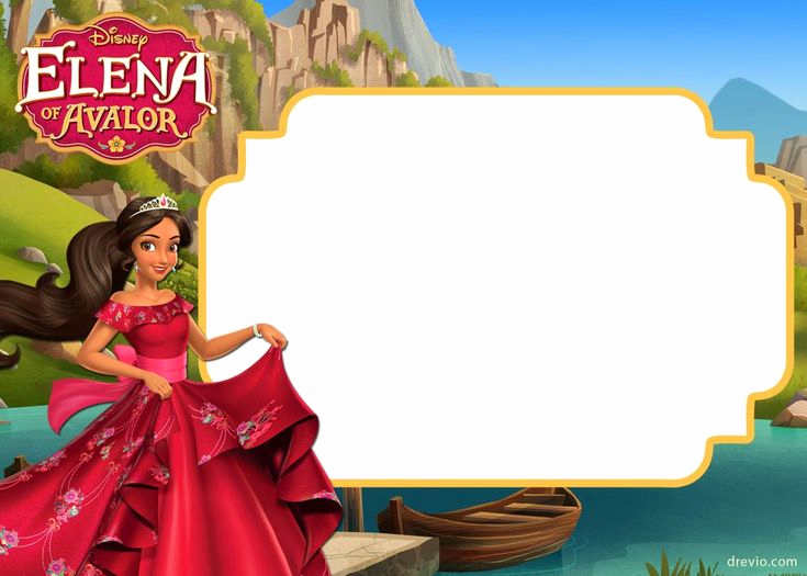 Elena Of Avalor Invitation Template New Free Printable Elena Of Avalor Invitation