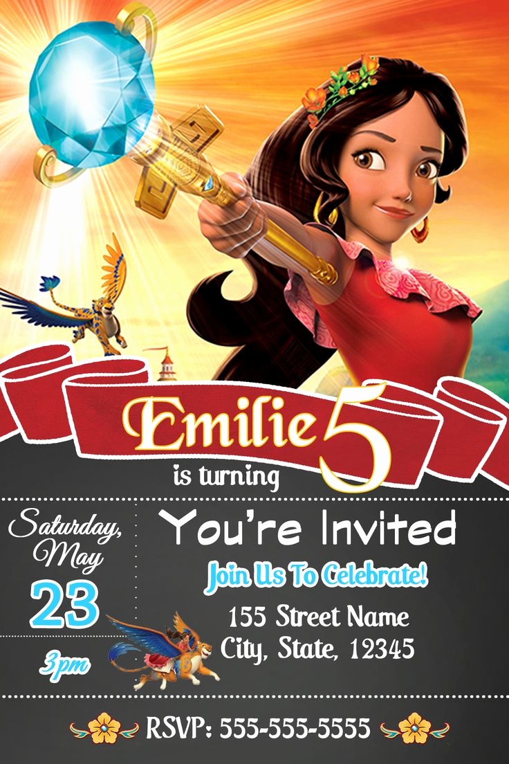 Elena Of Avalor Invitation Template Unique 1315 Best Princesas Images On Pinterest