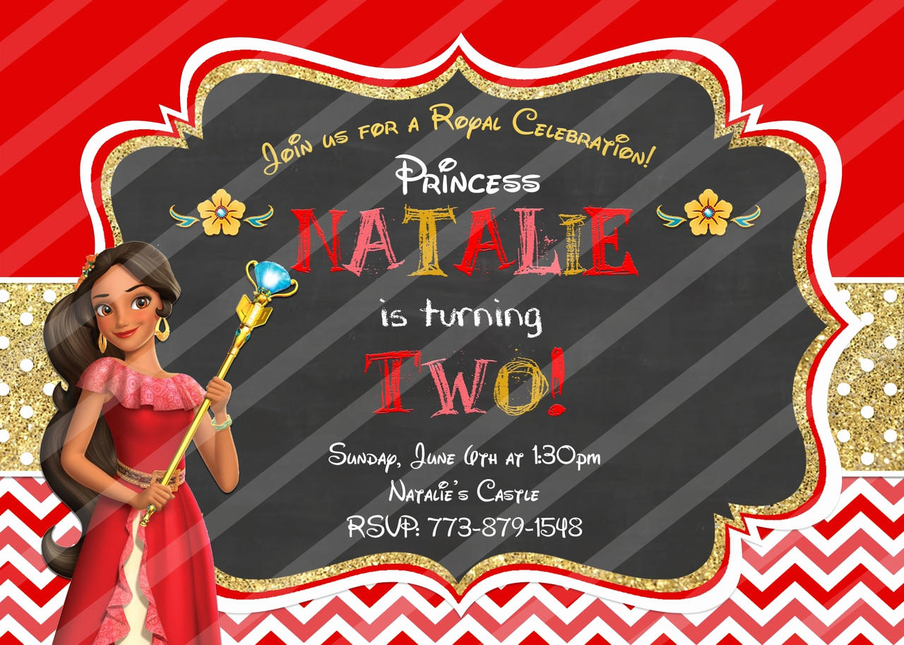 Elena Of Avalor Invitation Template Unique Disney Princess Elena Of Avalor Birthday Invitation