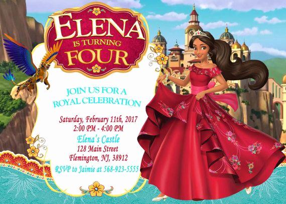 Elena Of Avalor Invitation Template Unique Elena Of Avalor Invitation Birthday Party