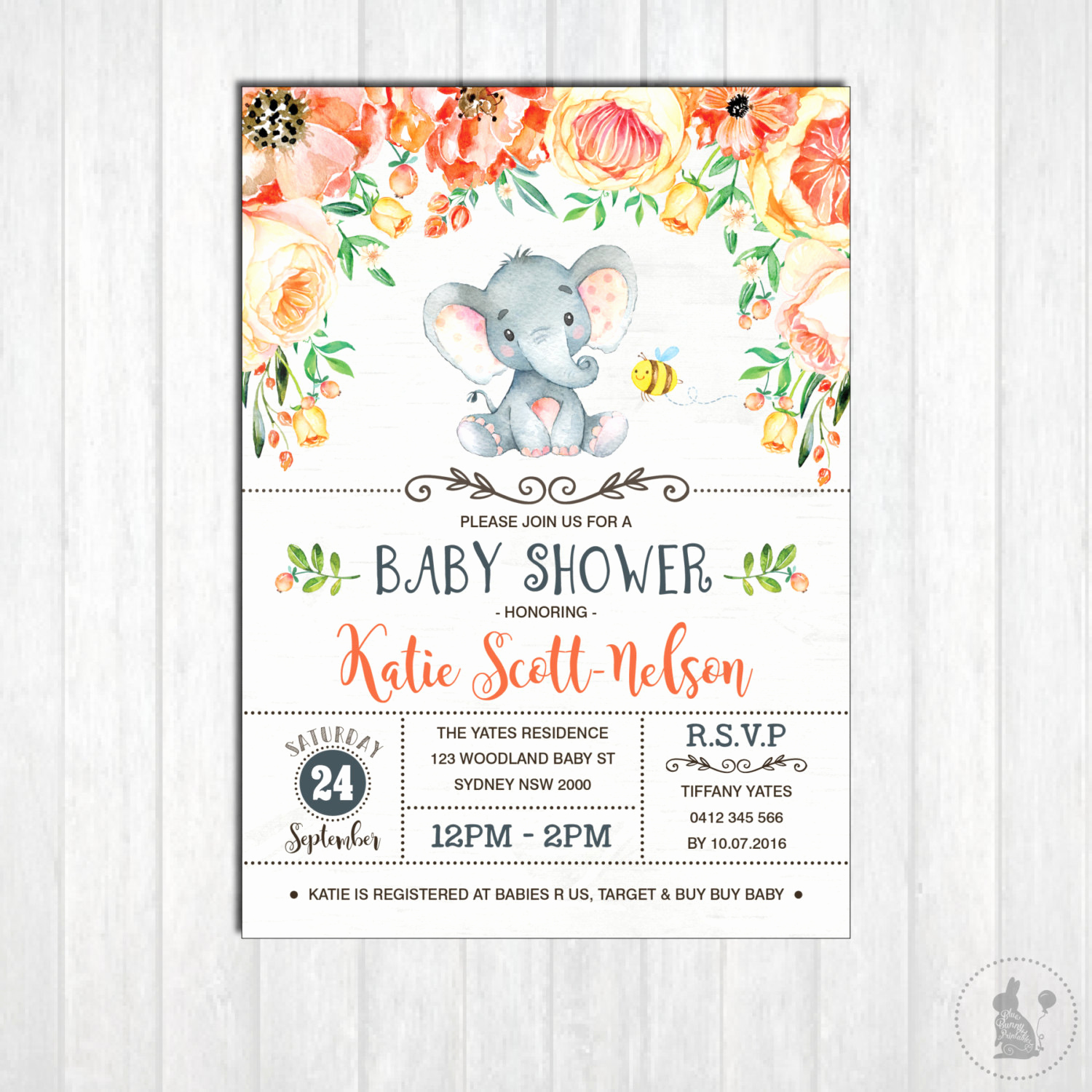 Elephant Baby Shower Invitation Awesome Elephant Baby Shower Invitation Printable Gender Neutral