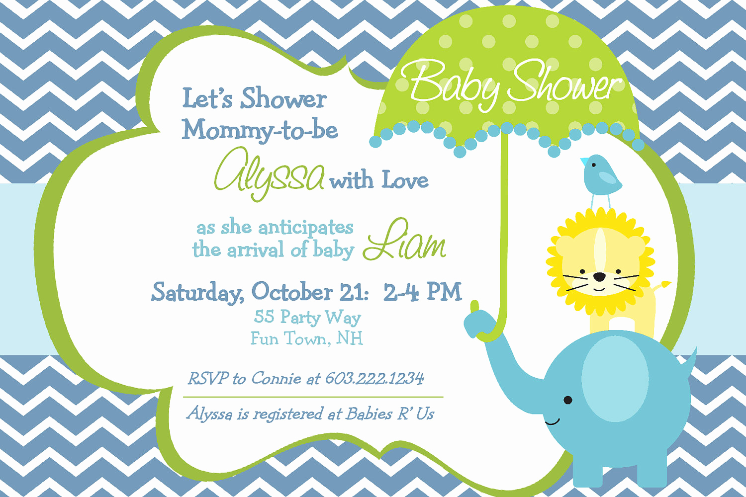 Elephant Baby Shower Invitation Elegant Elephant Baby Shower Invitation Boy by asyouwishcreations4u