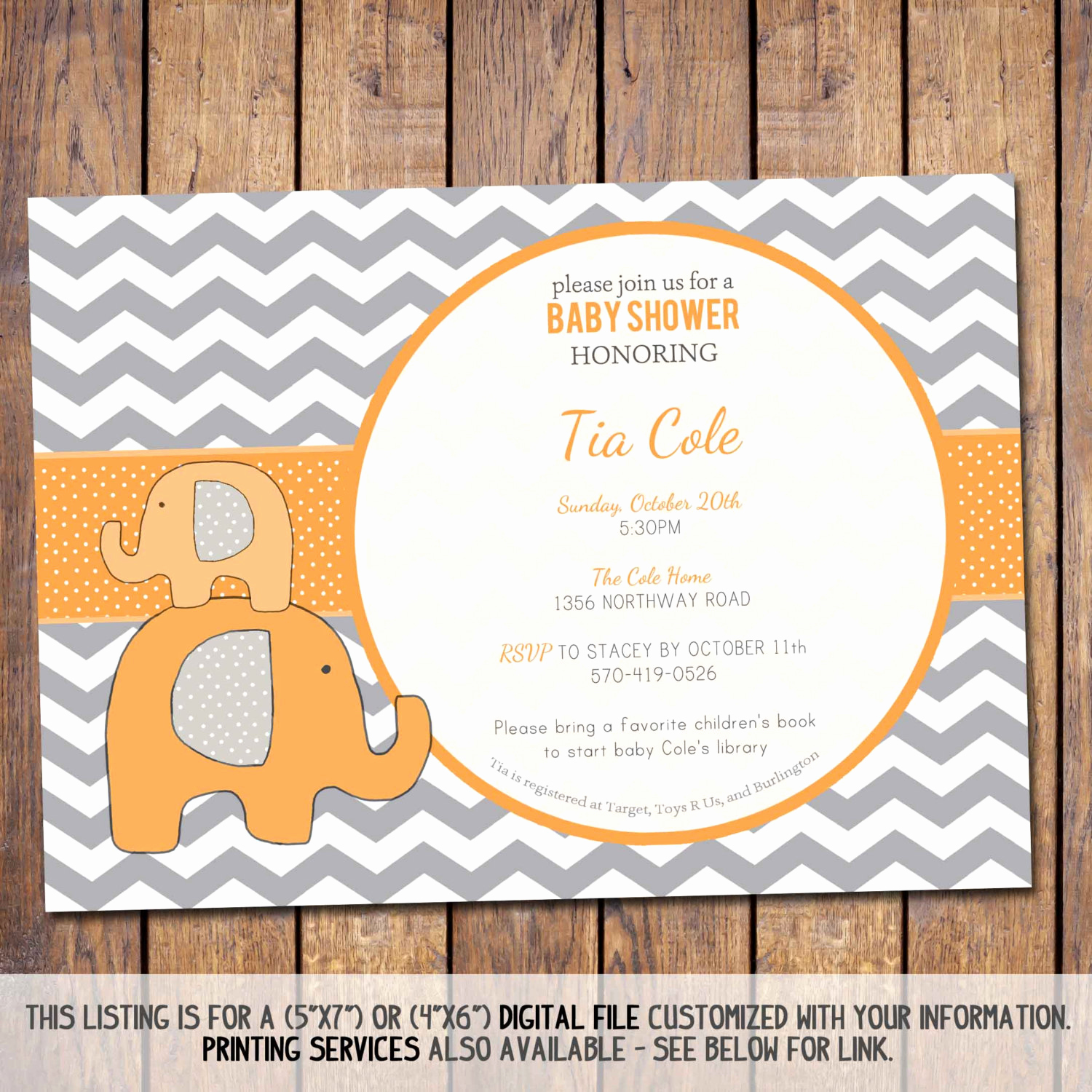Elephant Baby Shower Invitation Elegant Elephant Baby Shower Invitation Chevron Baby Shower Invitation