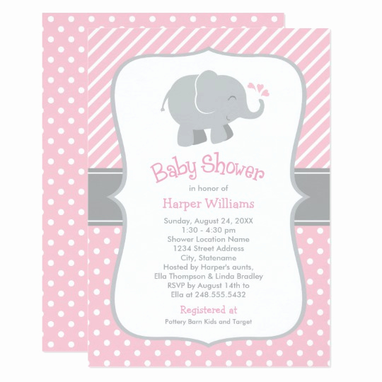 Elephant Baby Shower Invitation Inspirational Elephant Baby Shower Invitations Pink and Gray