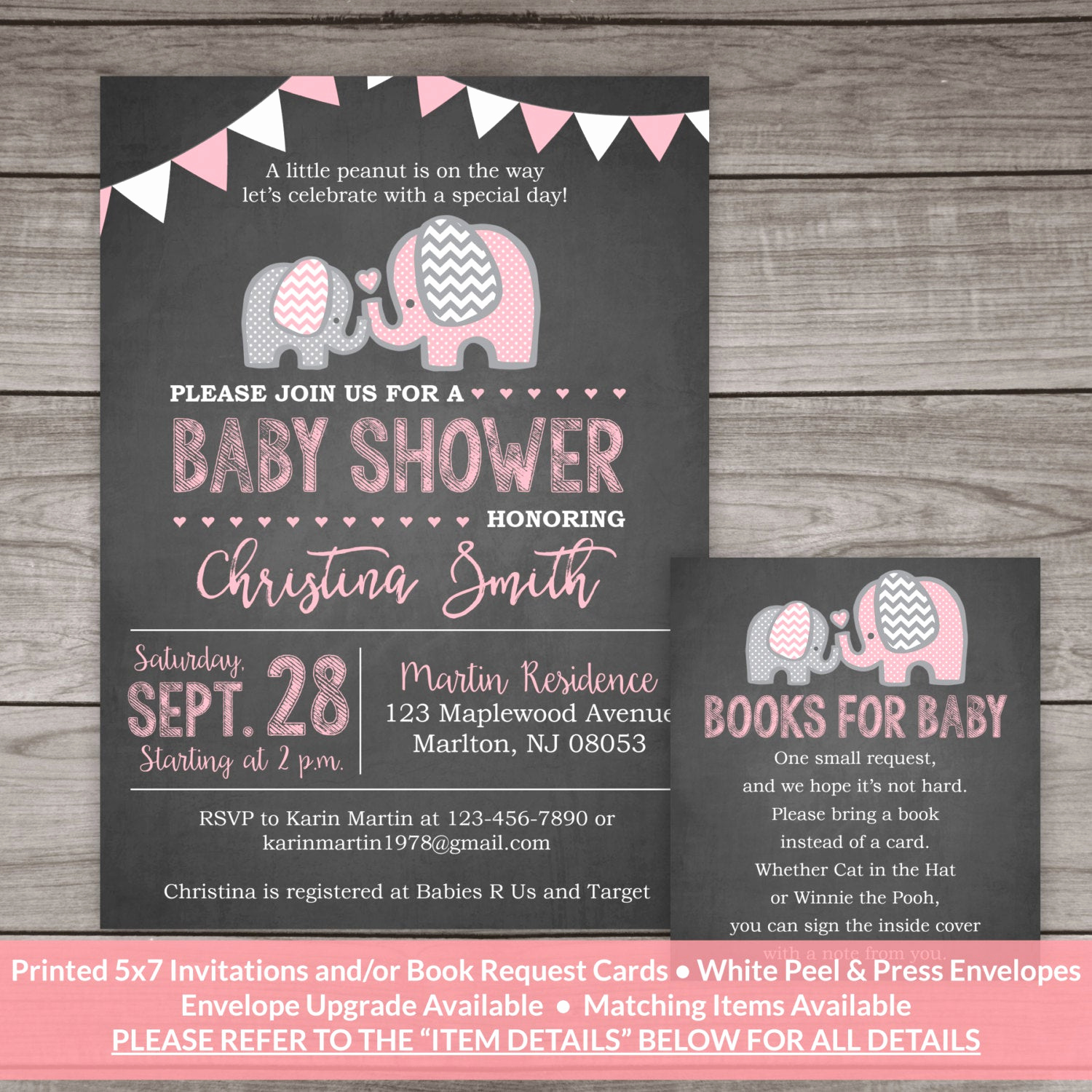 Elephant Baby Shower Invitation New Elephant Baby Shower Invitation Girl Chalkboard Baby Shower