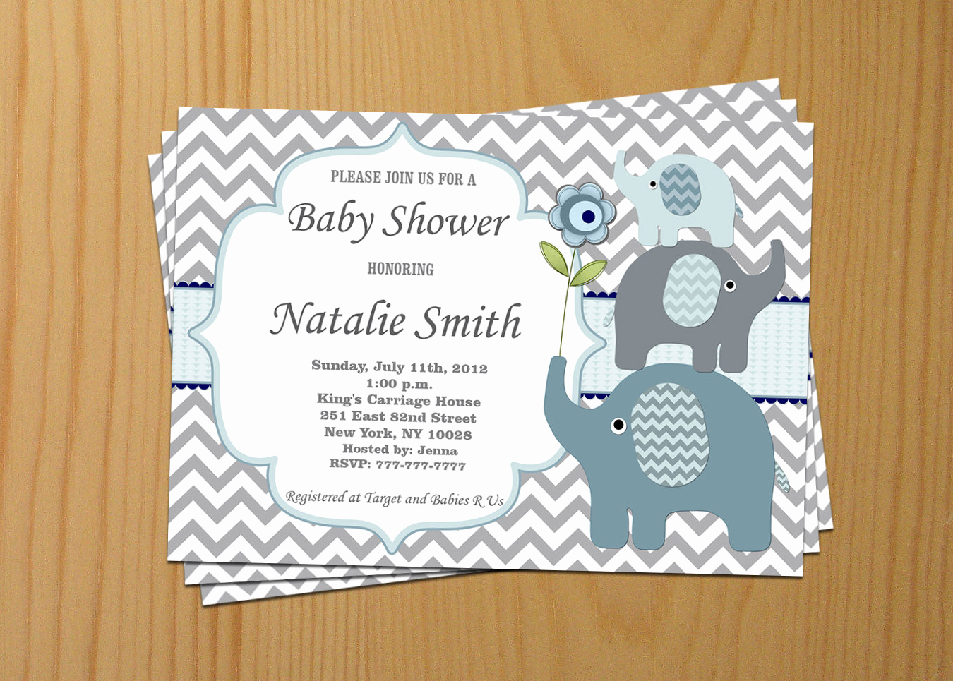 Elephant Baby Shower Invitation Templates Awesome Baby Shower Invitation Elephant Baby Shower Invitation Boy